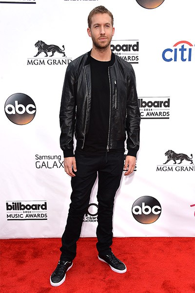 Calvin Harris on the red carpet at the 2014 Billboard Music Awards