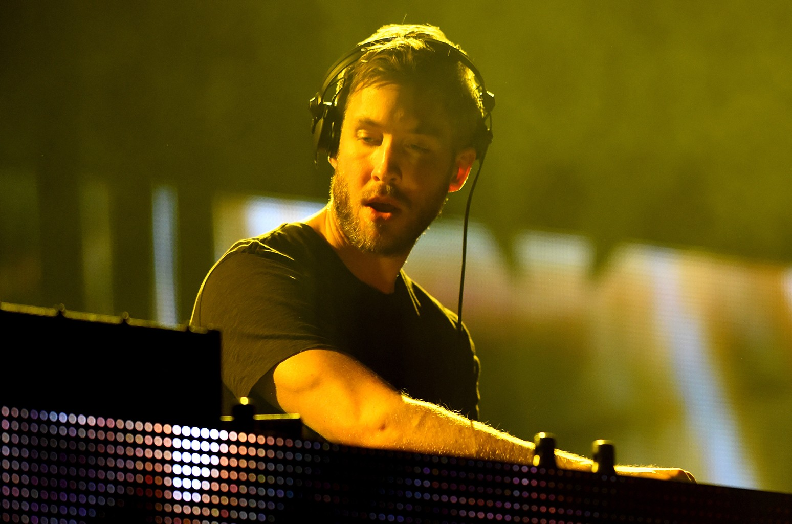 Calvin Harris performs in 2015