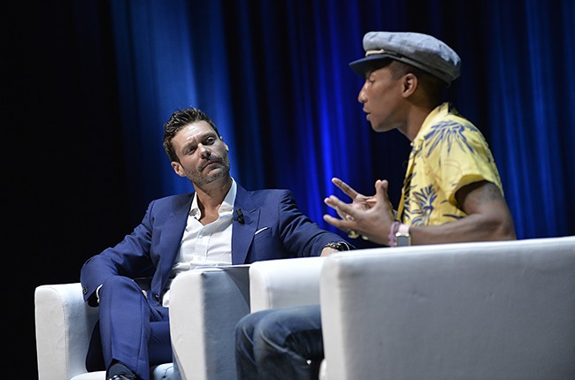 Ryan Seacrest and Pharrell