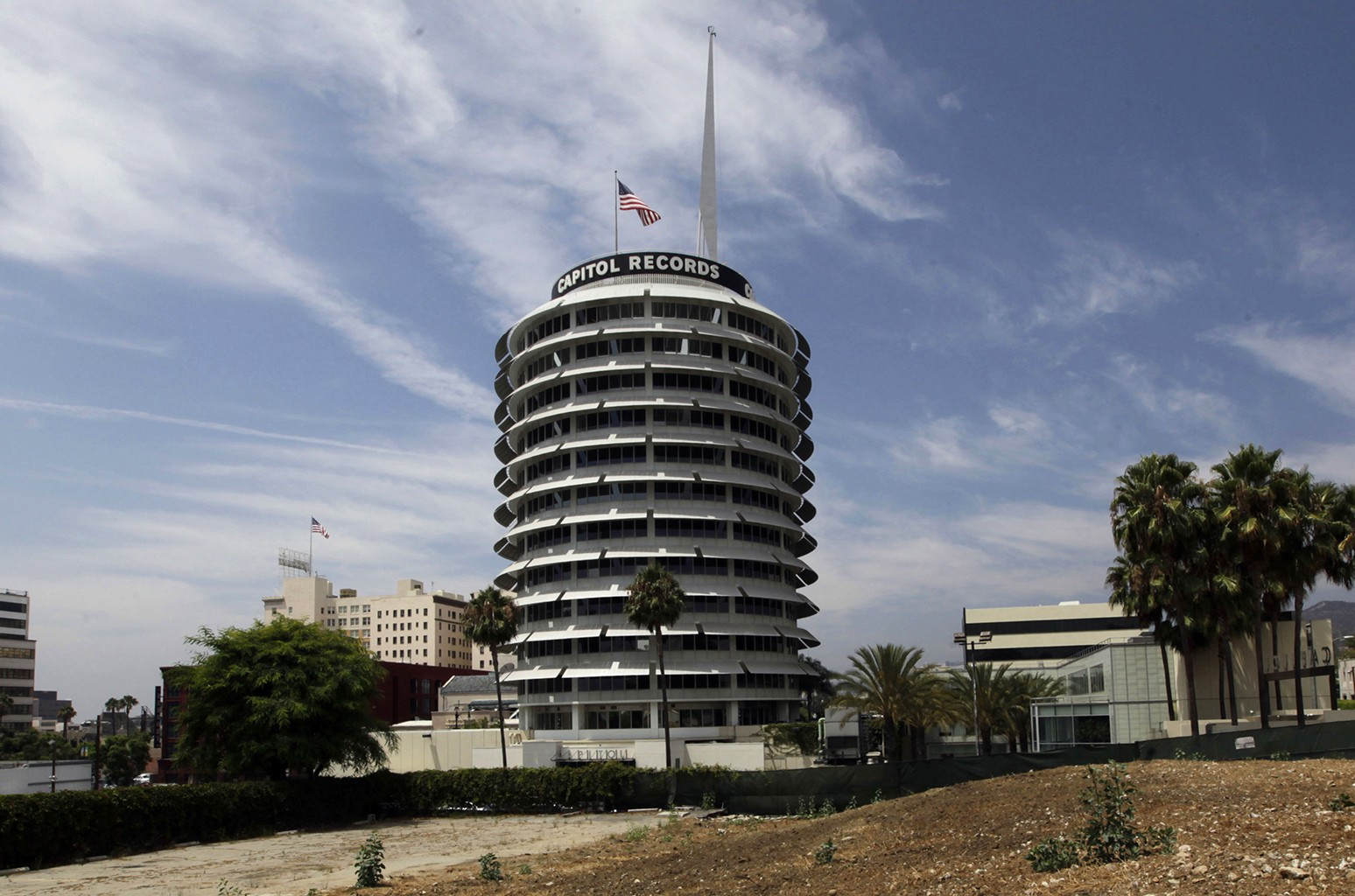 The Capitol Records building in Los Angeles.