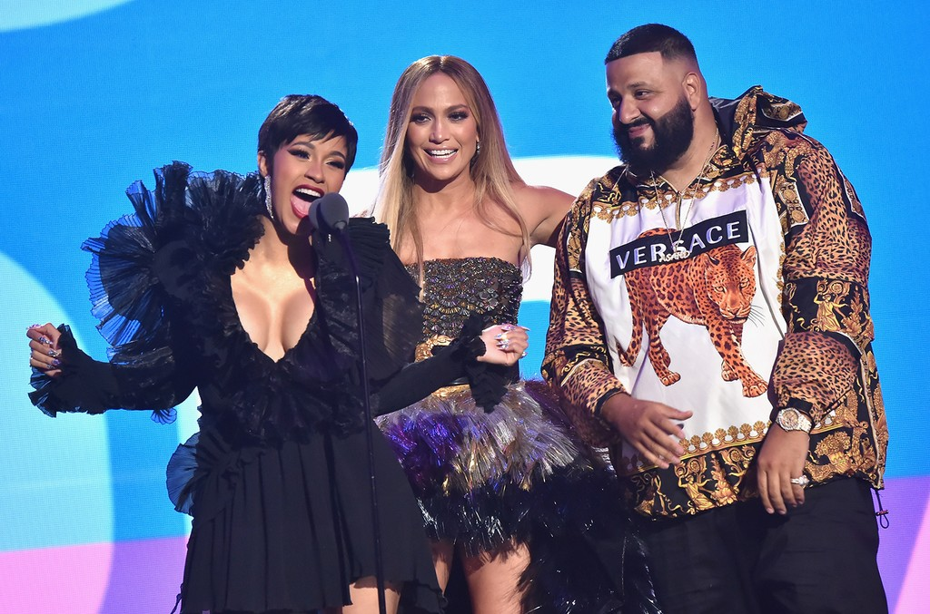 Cardi B, Jennifer Lopez and DJ Khaled