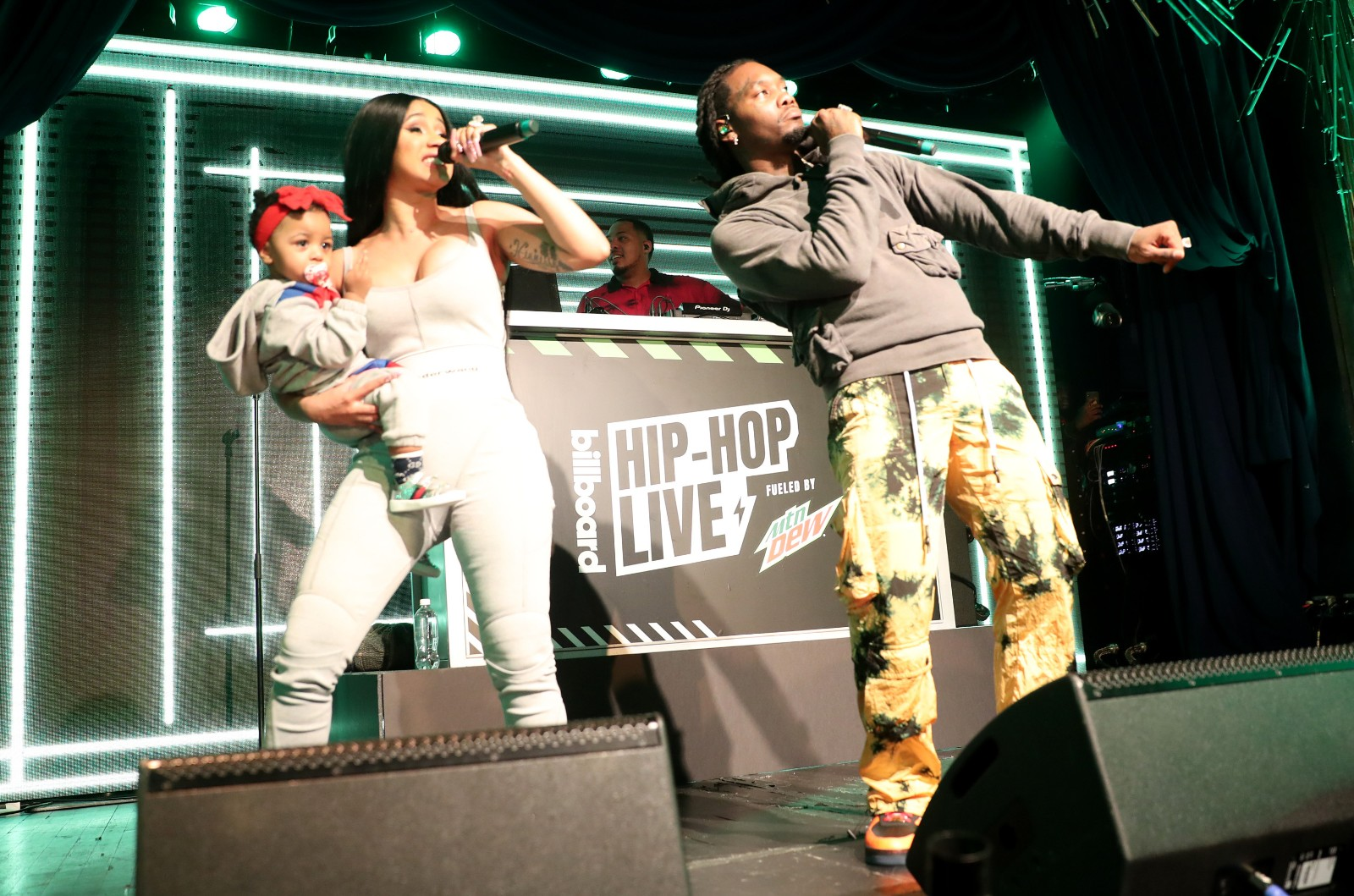 Cardi B with baby Kulture and Offset perform at Offset In Concert at Sony Hall on October 16, 2019 in New York City.