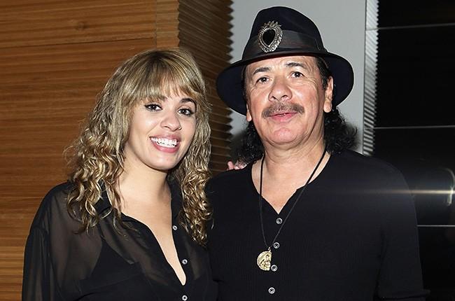 Stella Santana and Carlos Santana
