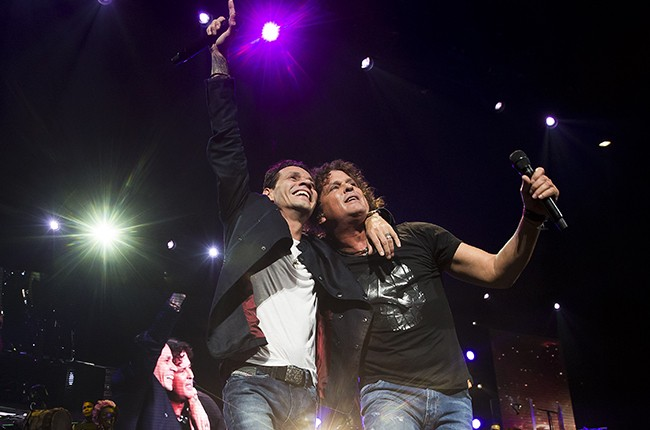 Carlos Vives and Marc Anthony at TD Garden