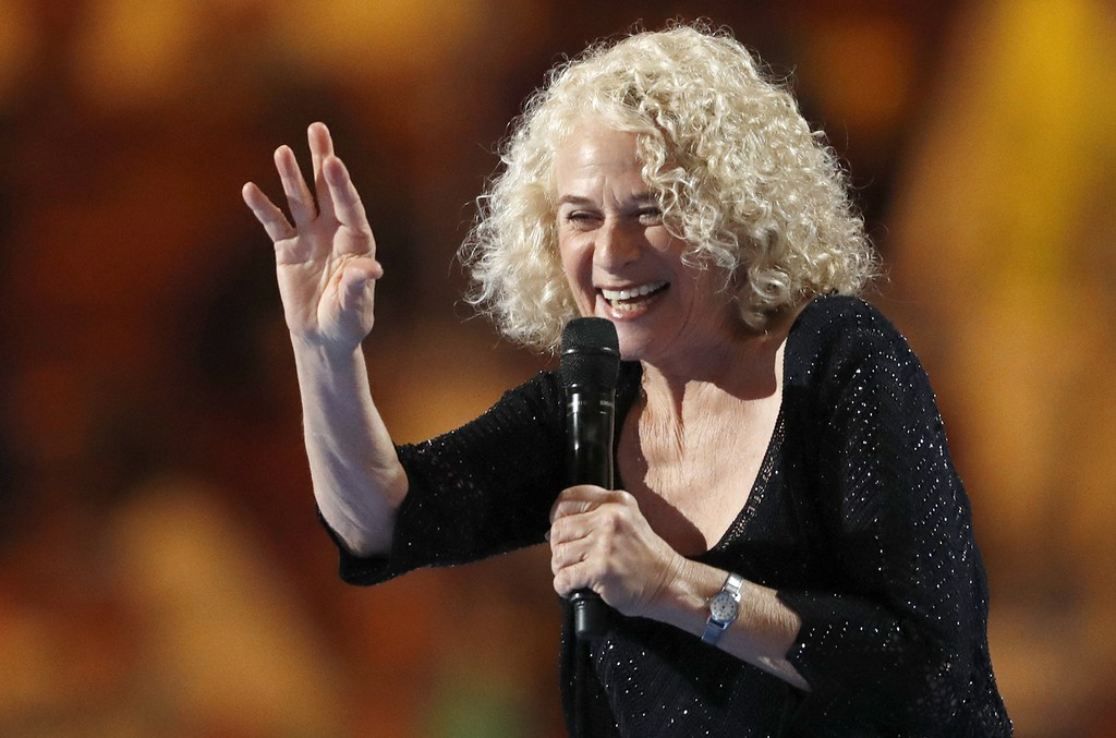 Carole King performs during the DNC