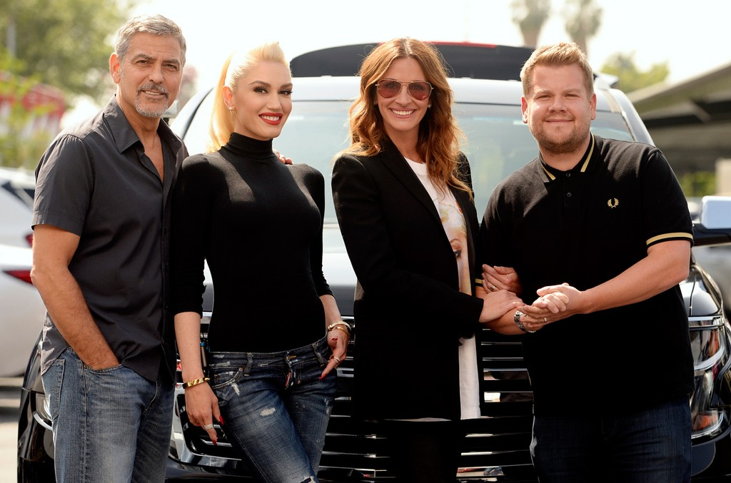George Clooney, Gwen Stefani and Julia Roberts join James Corden for Carpool Karaoke