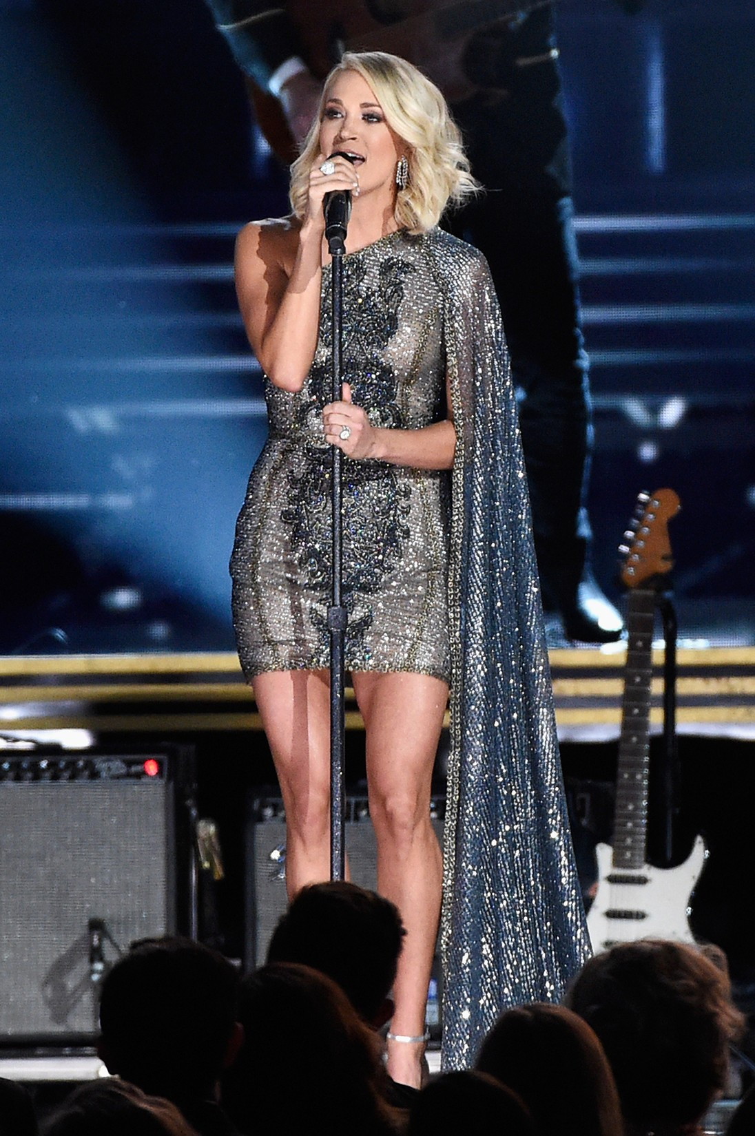 Carrie Underwood performs onstage at the 50th annual CMA Awards
