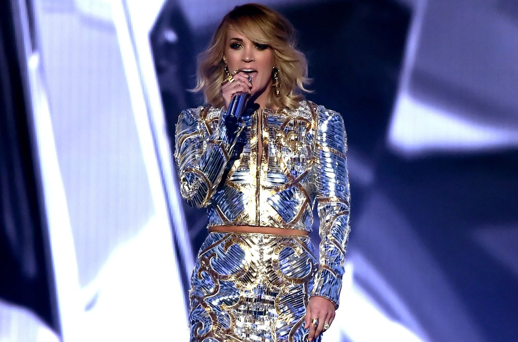 Carrie Underwood performs onstage during the 52nd Academy Of Country Music Awards at T-Mobile Arena on April 2, 2017 in Las Vegas.