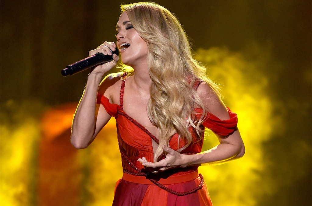 Carrie Underwood performs onstage during the 2015 American Music Awards at Microsoft Theater on Nov. 22, 2015 in Los Angeles.