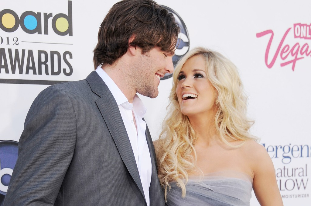 Carrie Underwood and Mike Fisher arrive at the 2012 Billboard Music Awards at MGM Grand Arena on May 20, 2012 in Las Vegas.