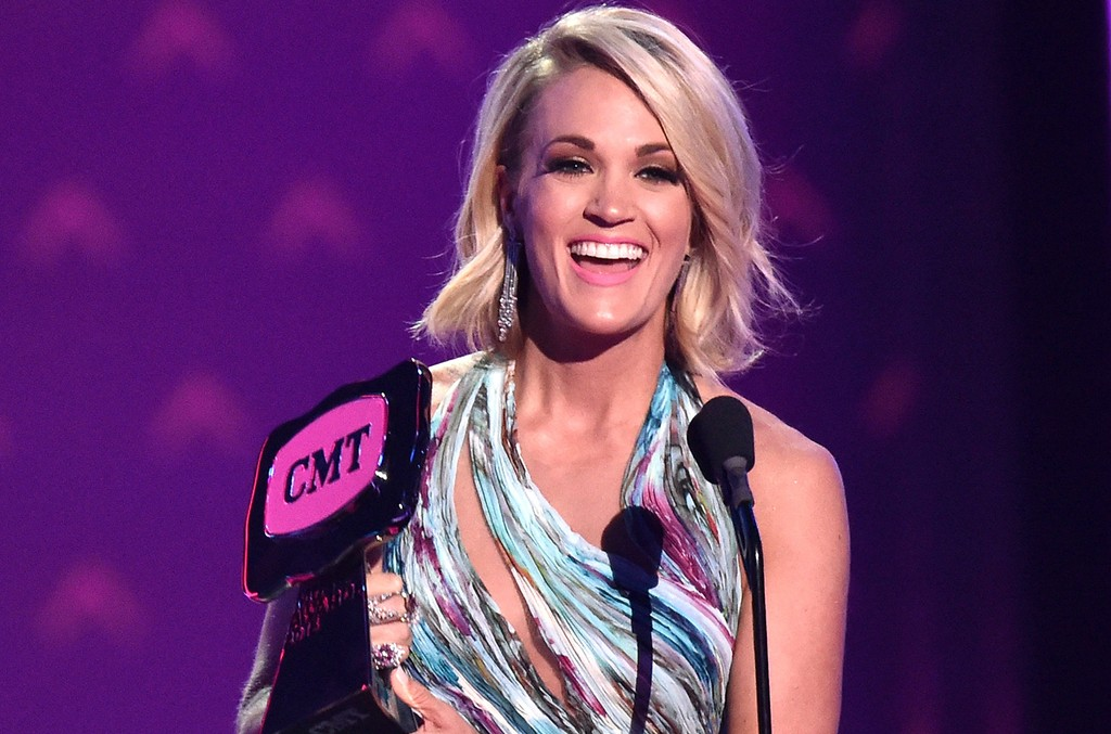 Carrie Underwood onstage during the 2016 CMT Music awards