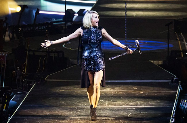 Carrie Underwood performs during The Storyteller Tour