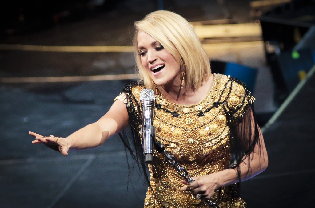 Carrie Underwood performs at The Canadian Tire Centre on May 27, 2016 in Kanata, Canada.