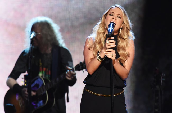 Carrie Underwood at the 2014 Rock And Roll Hall Of Fame Induction Ceremony