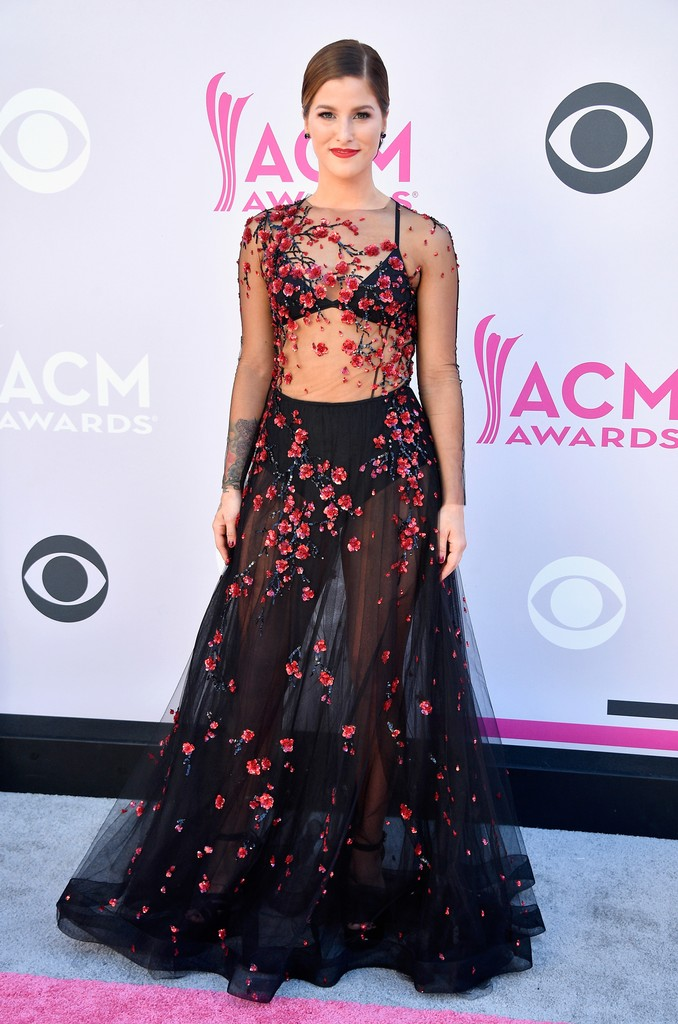 Cassadee Pope attends the 52nd Academy Of Country Music Awards at Toshiba Plaza on April 2, 2017 in Las Vegas.