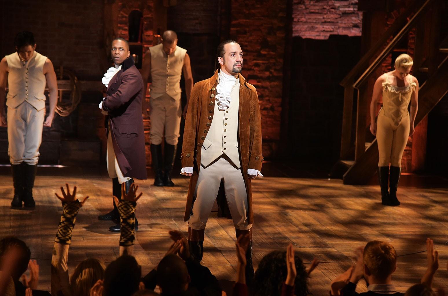 "The cast of ""Hamilton"""