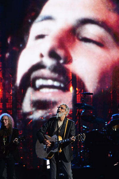 Cat Stevens performs during Rock and Roll Hall of Fame Induction