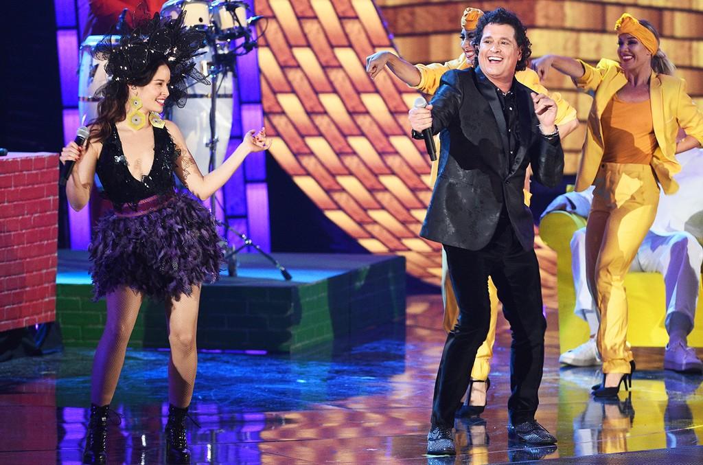Catalina Garcia and Carlos Vives