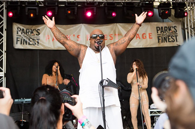 Cee Lo Green performs at Rachael Ray's annual Feedback party and concert at SXSW.