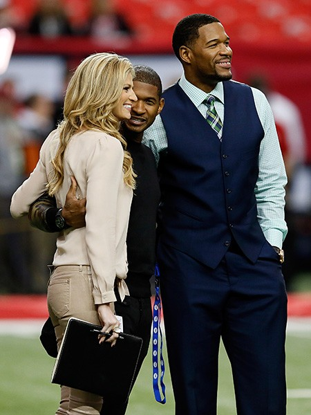 Erin Andrews, Usher and Michael Strahan