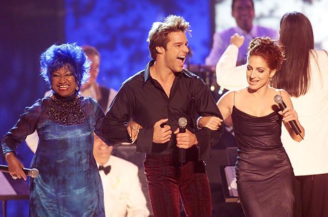 Celia Cruz, Ricky Martin and Gloria Estefan
