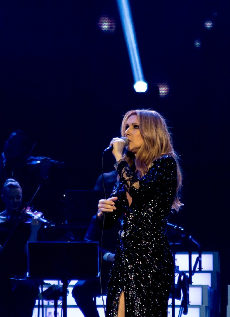 Celine Dion performs at The Colosseum