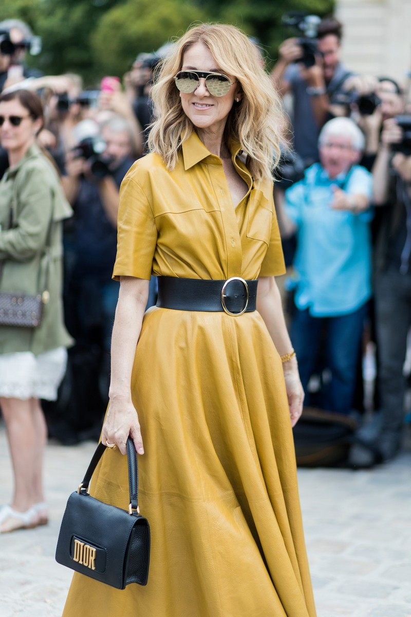 Celine Dion outside Dior during Paris Fashion Week - Haute Couture Fall/Winter 2017-2018 : Day Two on July 3, 2017 in Paris, France.