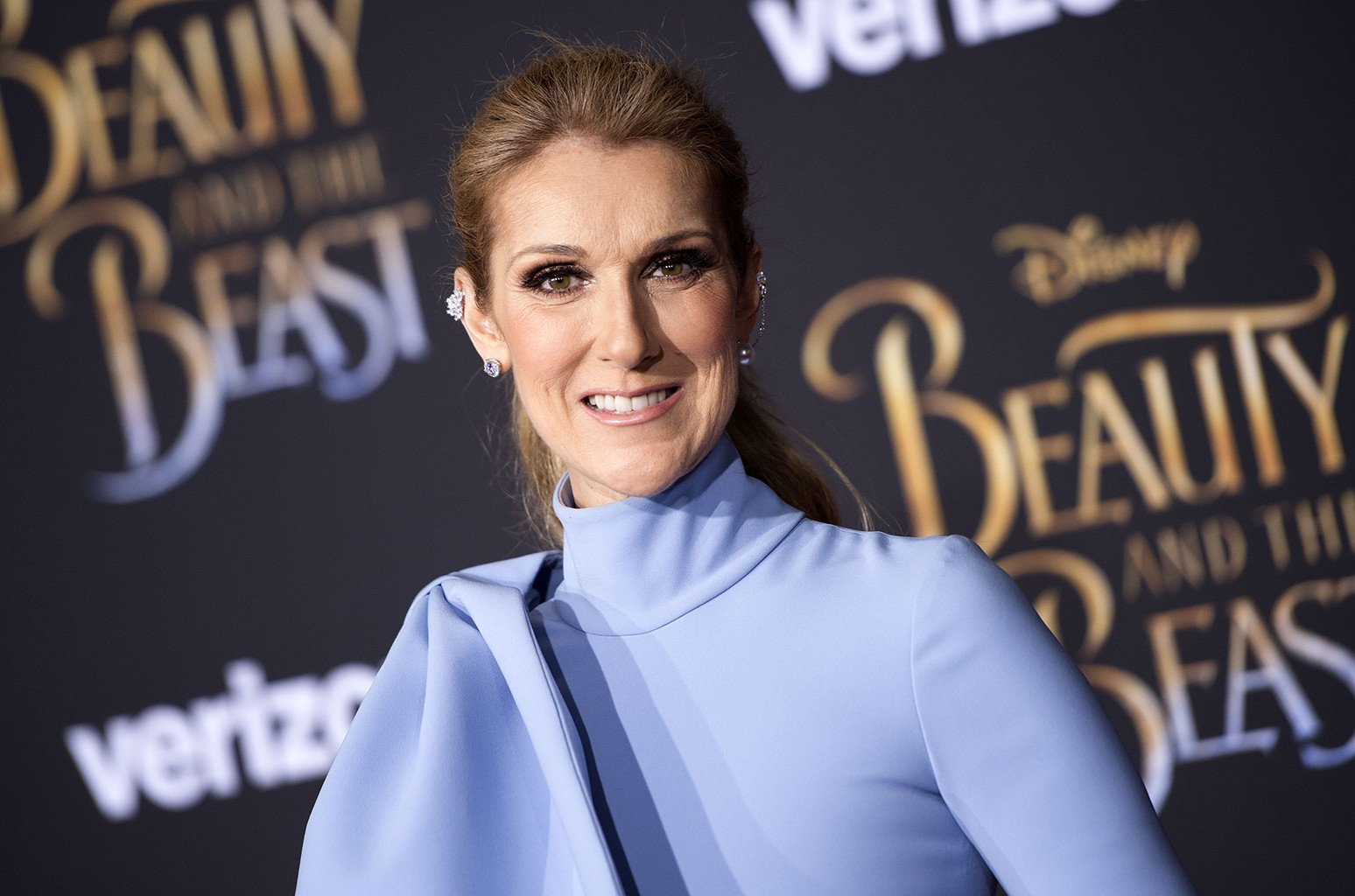 Celine Dion attends the world premiere of Disney's Beauty and the Beast at El Capitan Theatre on March 2, 2017 in Hollywood, Calif.