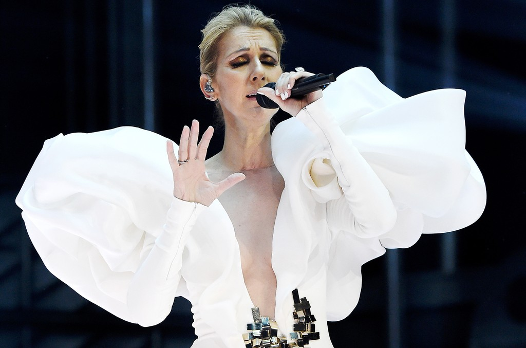 Celine Dion performs onstage during the 2017 Billboard Music Awards at T-Mobile Arena on May 21, 2017 in Las Vegas.