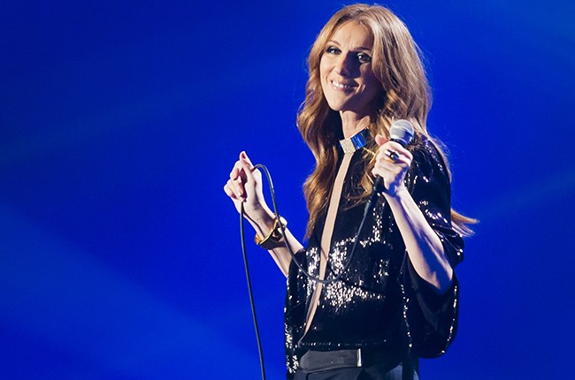 Celine Dion performs in Paris in 2013