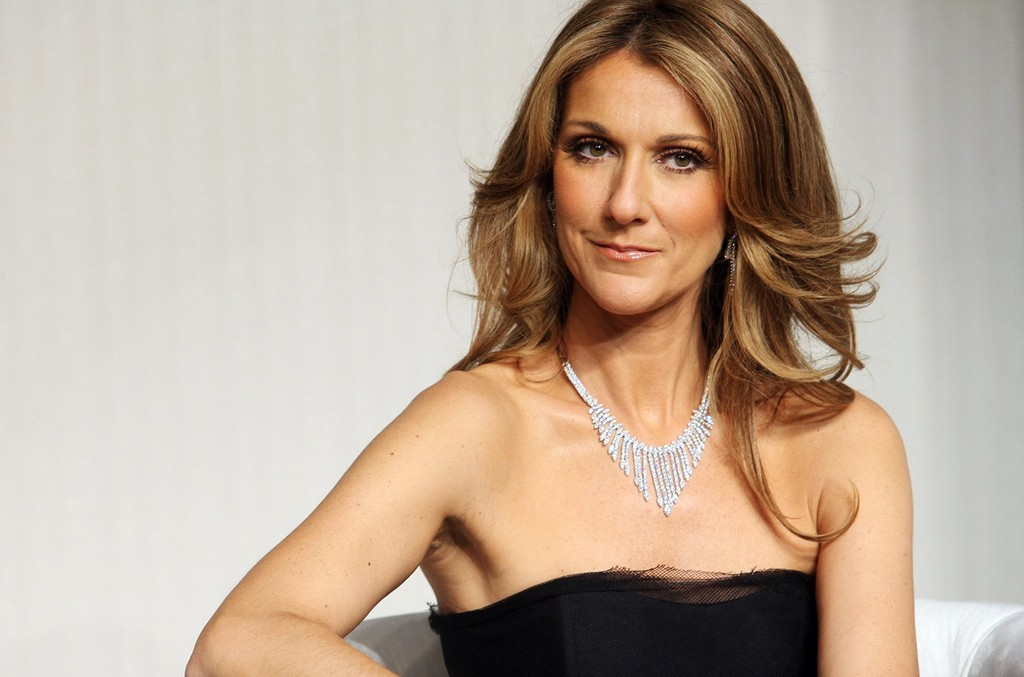 Celine Dion photographed in Beijing, China.