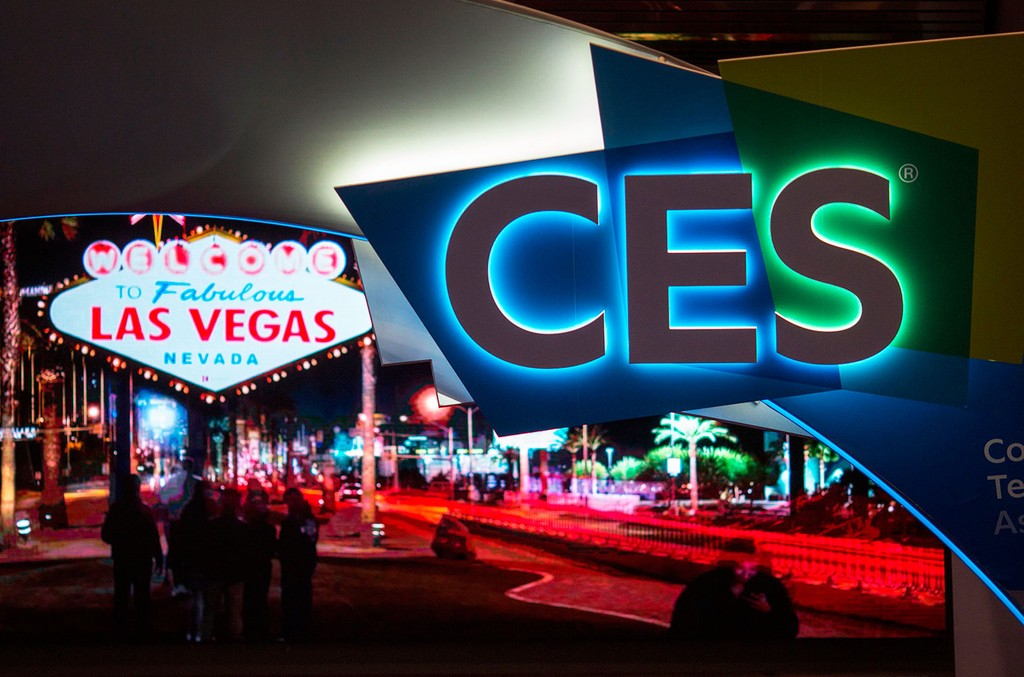 CES signage is seen on the eve of CES in Las Vegas on Jan. 8, 2018.