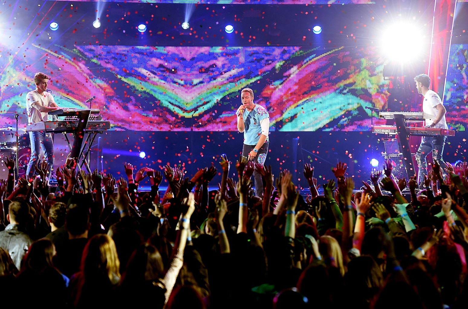 Chris Martin performs with The Chainsmokers on March 5, 2017 in Inglewood, Calif.