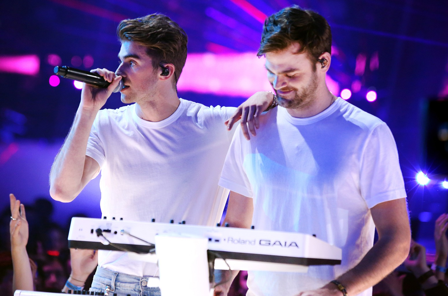 The Chainsmokers perform at the 2017 iHeartRadio Music Awards at The Forum on March 5, 2017 in Inglewood, Calif.