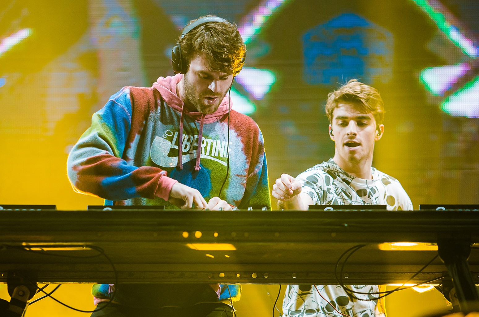 The Chainsmokers perform at Autodromo de Interlagos on March 25, 2017 in Sao Paulo, Brazil.