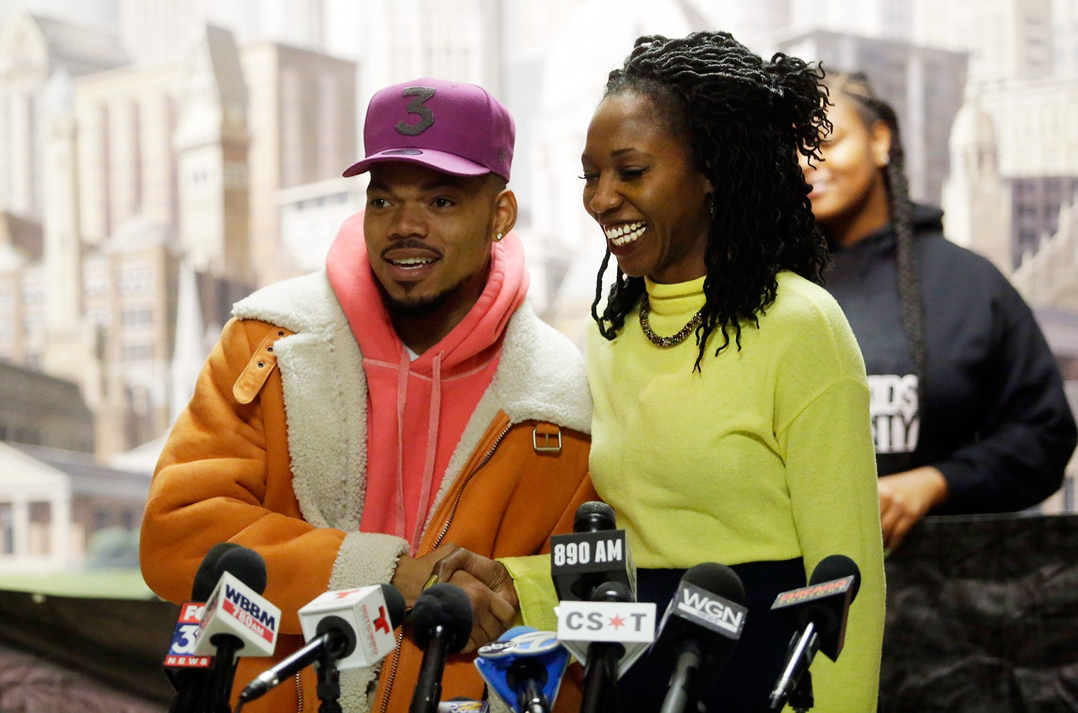 Chance The Rapper and Amara Enyia