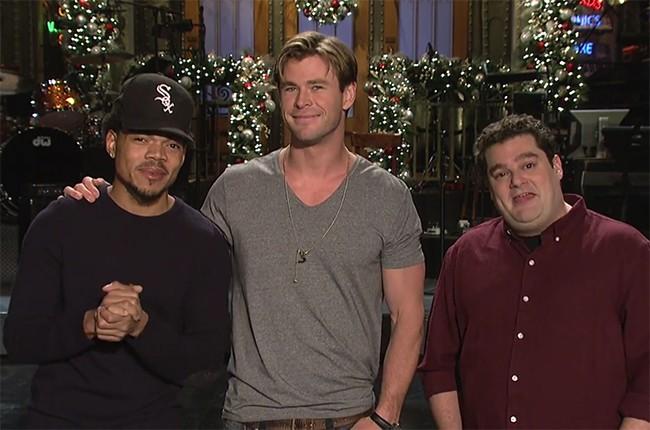 Chance the Rapper, Chris Hemsworth and Bobby Moynihan