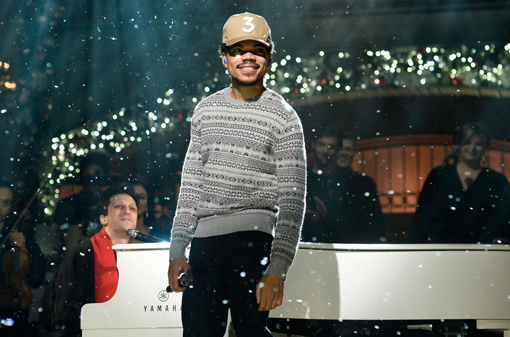 Chance The Rapper performs on on Saturday Night Live on Dec. 17, 2016.