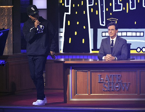 """Chance the Rapper performs on """"The Late Show with Stephen Colbert"""""""