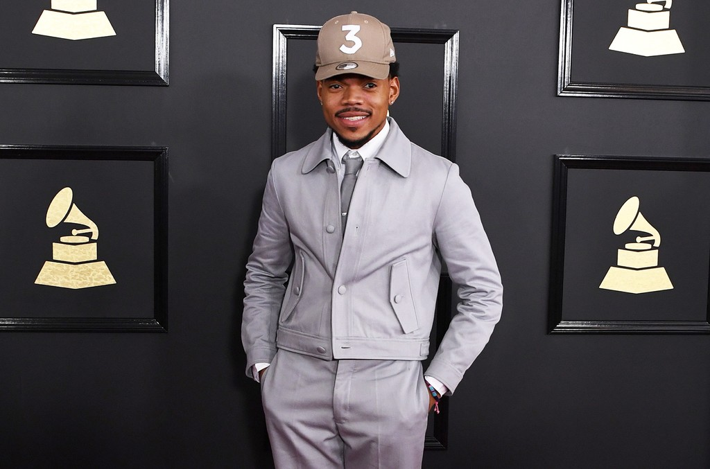 Chance the Rapper arrives for the 59th Grammy Awards on Feb. 12, 2017, in Los Angeles.
