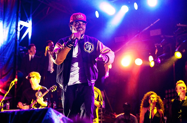 Chance The Rapper performs during 2014 Lollapalooza
