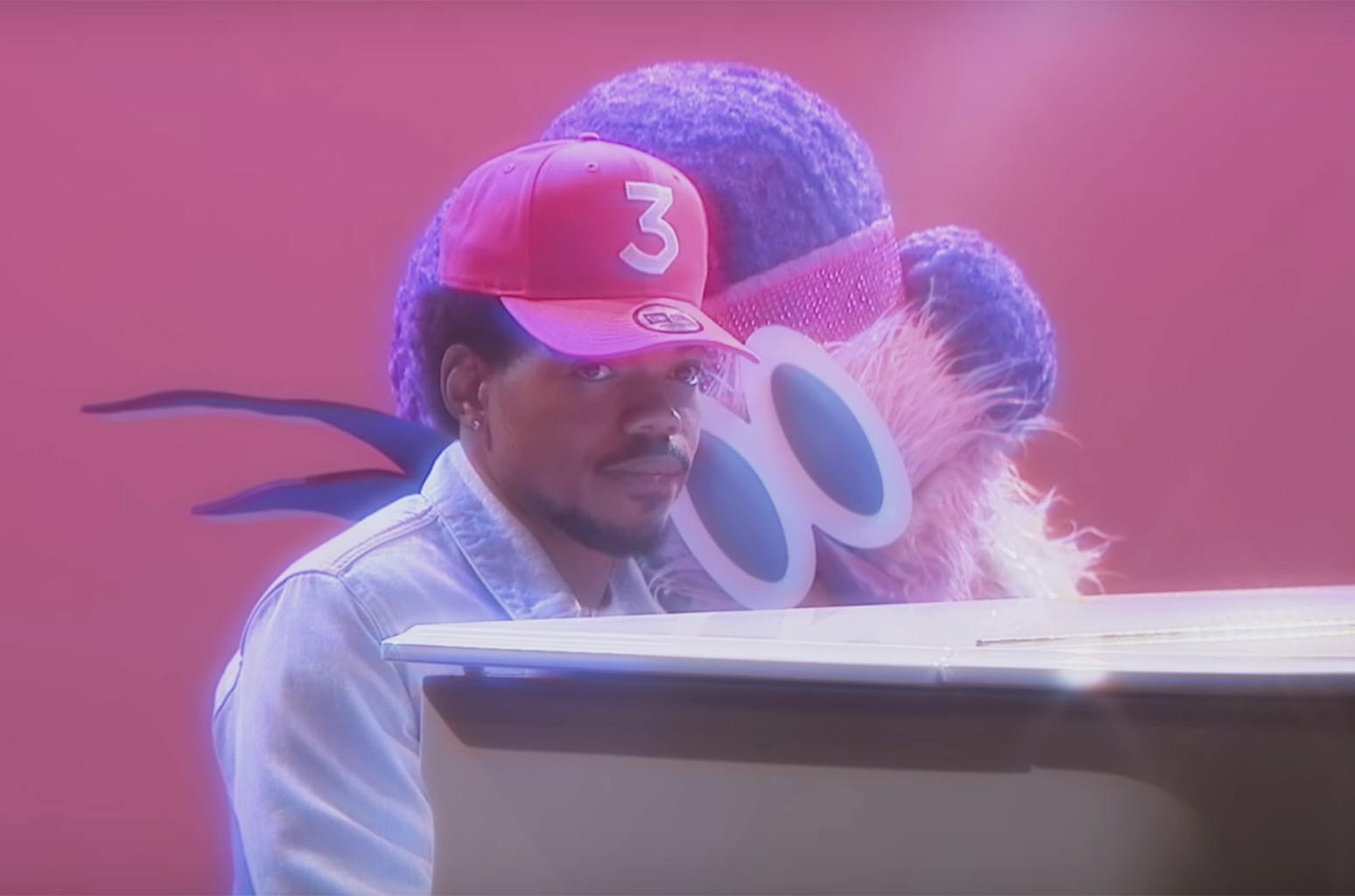 """Chance the Rapper in the video for """"Same Drugs."""""""