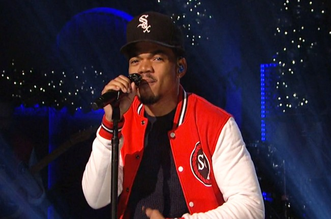 Chance The Rapper performs on NBC's Saturday Night Live on Dec. 12, 2015.