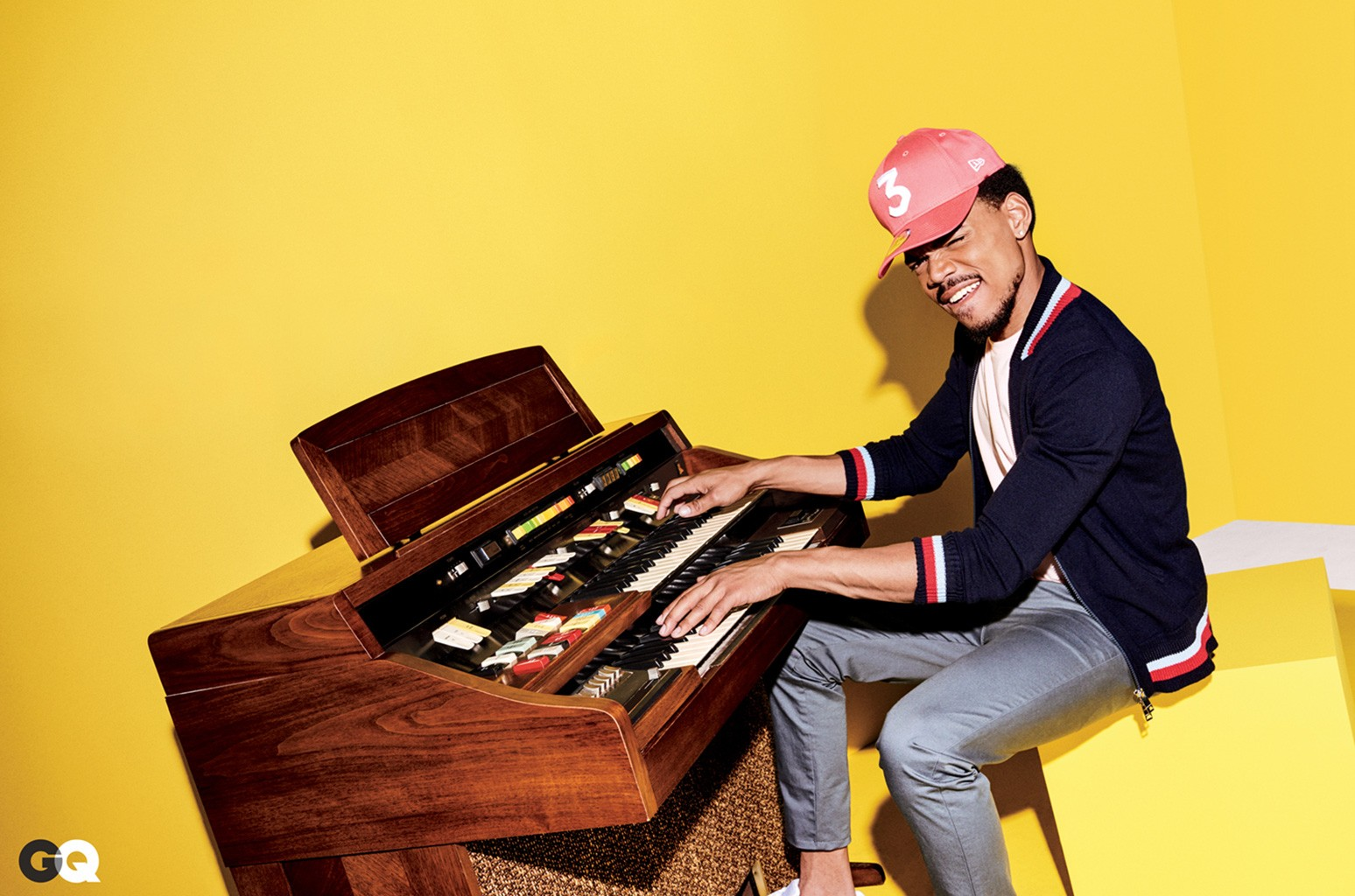 Chance The Rapper photographed for the February 2017 issue of GQ.