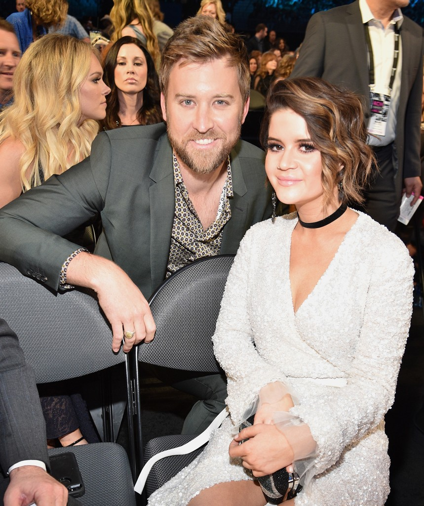 Charles Kelley and Maren Morris attend the 52nd Academy Of Country Music Awards at T-Mobile Arena on April 2, 2017 in Las Vegas.