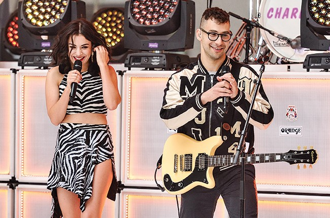 """Charlie XCX and Jack Antonoff perform on NBC's """"Today"""" at the NBC's TODAY Show on June 5, 2015 in New York City."""
