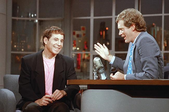 Paul Simon and David Letterman
