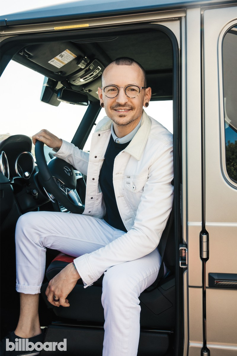 Chester Bennington photographed on March 11th in Redondo Beach, Calif.
