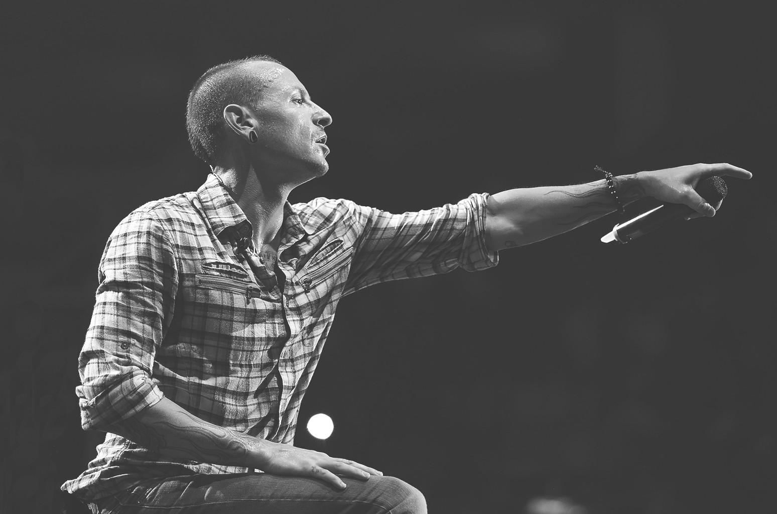 Chester Bennington of Linkin Park performs at Arena Monterrey on Sept. 12, 2012 in Monterrey, Mexico.