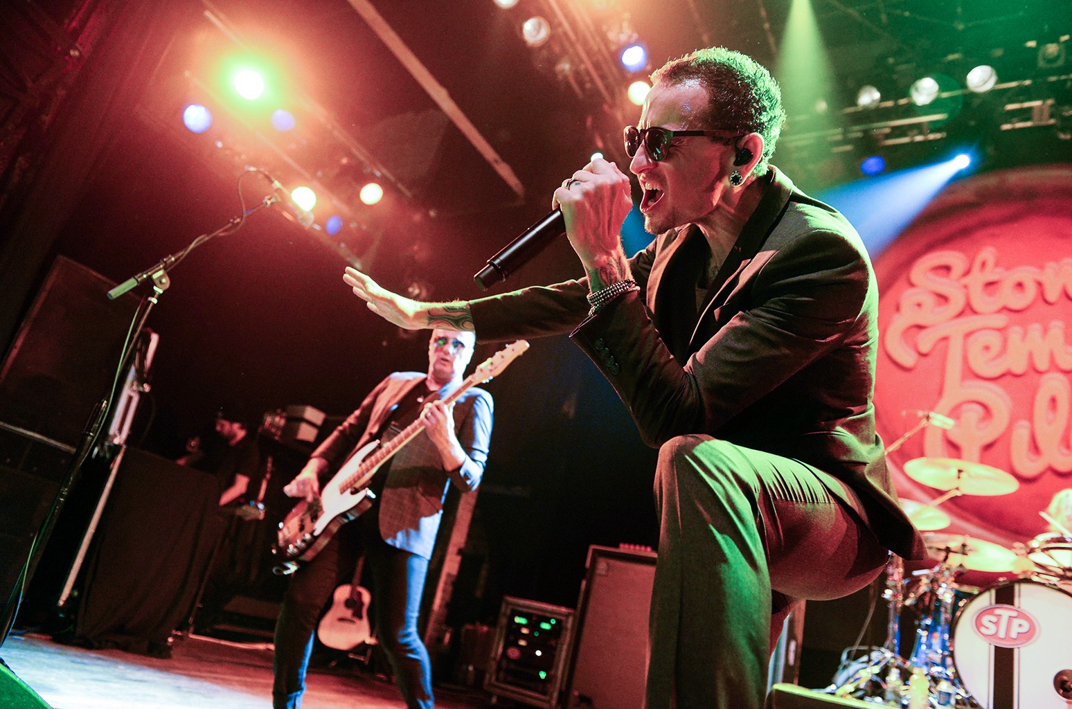 Chester Bennington of Stone Temple Pilots performs at House of Blues Sunset Strip on April 13, 2015 in West Hollywood, Calif.